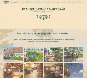 Münchner Webdesign, Webdesign, Fotos und Betreuung von Brauereigasthof Maierbraeu