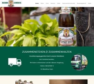Münchner Webdesign, Webdesign und Betreuung von Maierbräu Altomünster
