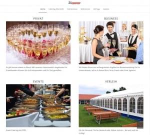 Münchner Webdesign,, Fotos, Hosting und Betreuung von Sommerkorn Catering